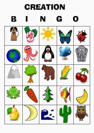 God's Creation Bingo Game Printable