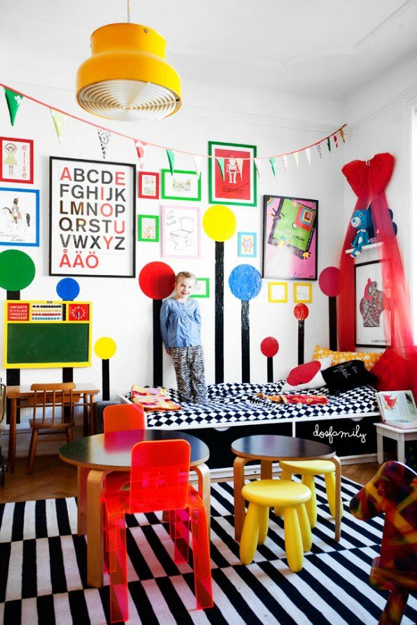 5 colourful creative and vivid kid s rooms kids rooms paint rh pinterest com Colorful Little Boy Room Modern Boys Room