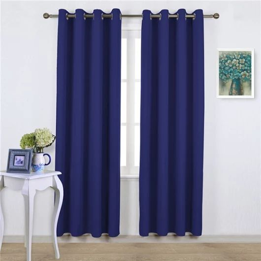 Royal Blue Interior Design Thermal Insulated Blackout Curtains