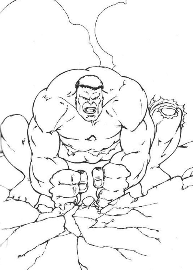 18 Best Hulk Coloring Pages Images On Pinterest Hulk