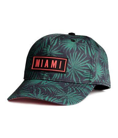Cotton Cap with Appliqué | Black/Miami | Kids | H&M US