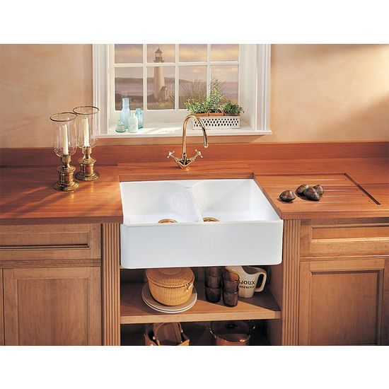 Farmhouse Kitchen Dark Cabinets: 25+ Best Ideas About Double Bowl Sink On Pinterest