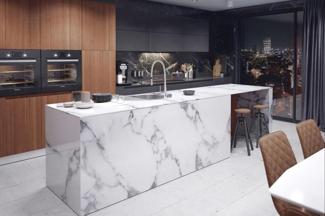 Wyspa Bryla Przypominajaca Lodowiec Z Ktorym Zderzyl Sie Titanic Az Mozna Sie Zastanawiac Czy To Komple Kitchen Colors Kitchen Design Interior Design Kitchen