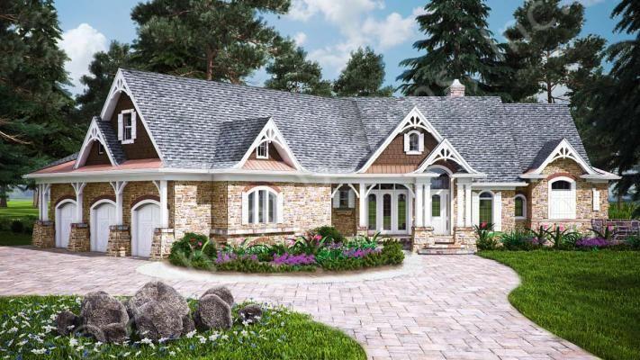 Big Canoe House Plan - Plan Link: https://www.archivaldesigns.com/home-plans/big-canoe-house-plan - #houseplan #cottage #rustic