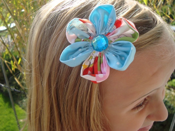 Christmas Hair Flower Hair Clip For Toddlers by UnPetitPapillon, $4.50