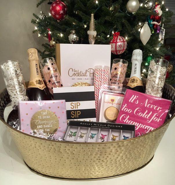 DIY Champagne Lover's Gift Basket