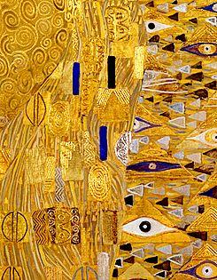 Unhistorical Gustav Klimt Golden Phase Detail From