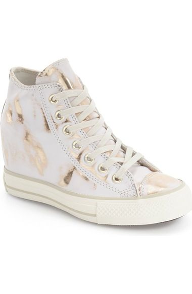Converse Chuck Taylor® All Star® Lux Brush Off Hidden Wedge High Top Sneaker (Women) available at #Nordstrom