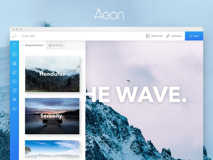 Aeon - Front-end builder by Paul | Icy Pixels