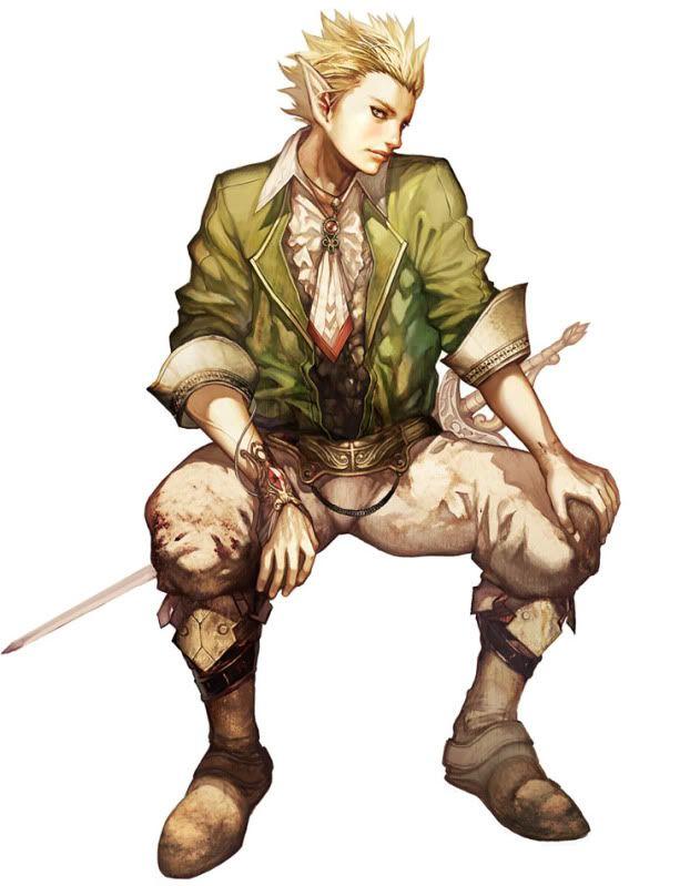 Male Elf Green Swashbuckler