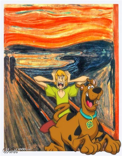 The Scream has probably been way overdone but Scooby Doo was the first thing I thought of. Source: http://en.wikipedia.org/wiki/The_Scream