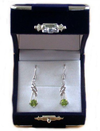 925 Peridot Earrings/Silver Peridot Earrings/Peridot Jewellery/August Birthstone