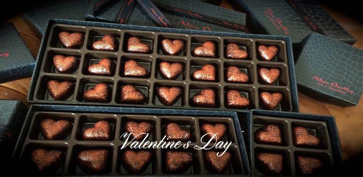 The Bronze Hearts that say I Love You www.alicebentleychocolates.com