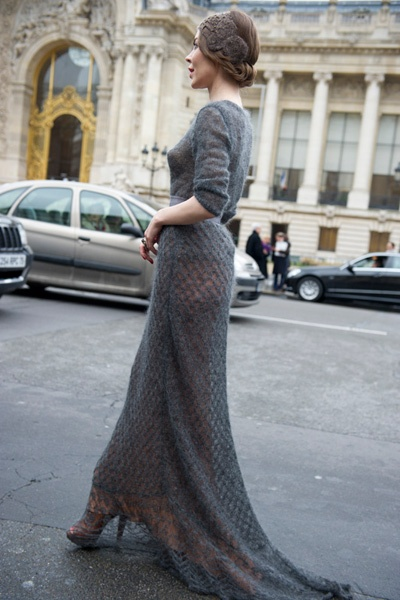 A knitted gown...Why not? (Answer: because the thought of that lovely, delicate…