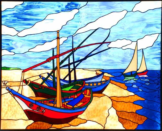 """""""Van Gogh's Boats"""" by Mary Soultanian"""