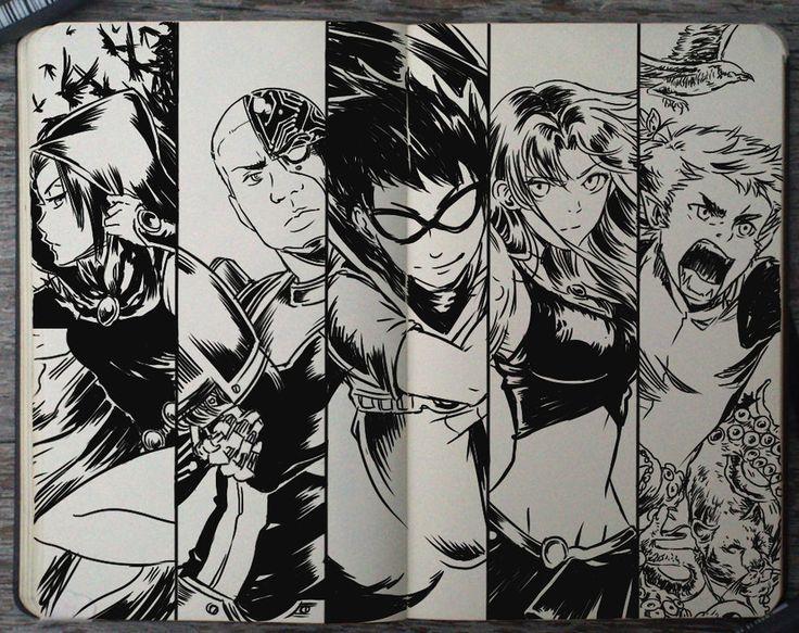 #199 Teen Titans by 365-DaysOfDoodles.deviantart.com on @deviantART OMG. I LOVE THIS SOOOOO MUCH.
