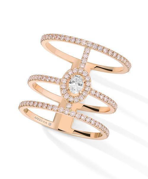 La bague Glam'Azone en diamants roses de Messika