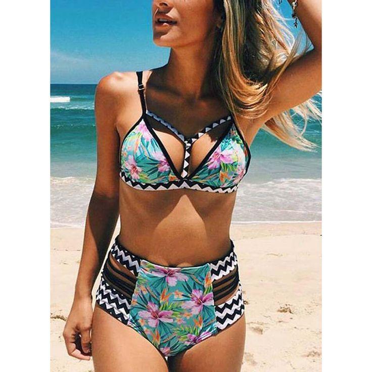 VERYVOGA Floral Strap Beautiful Bikinis Swimsuits
