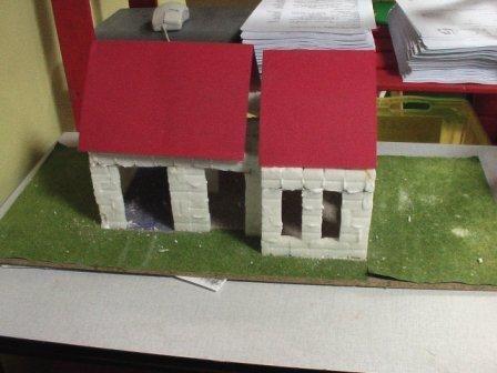 Huisje van suikerklontjes