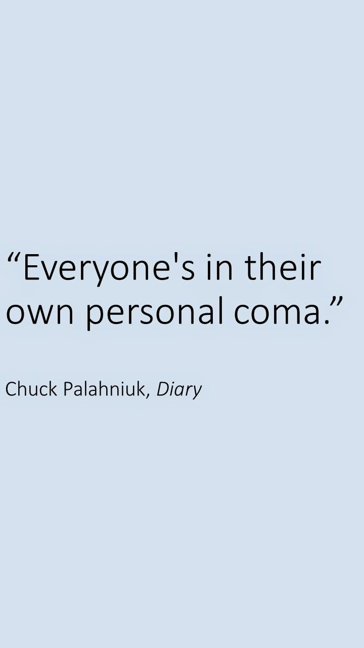 diary by chuck palahniuk from a Diary is a 2003 novel by chuck palahniuk the book is written like a diary its protagonist is misty wilmot, a once-promising young artist currently working as a waitress in a hotel her husband, a contractor, is in a coma after a suicide attempt.