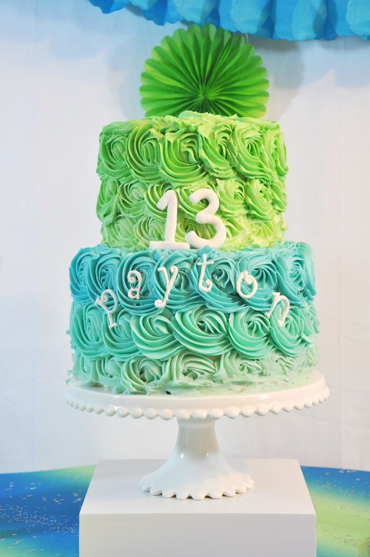 13th Birthday Party with www.BeautifulEvents.Co! Blue and Green was the theme and included a custom ombre cake and cupcakes, M&M Margaritas, and a back drop that doubled as a photobooth! Design and photography by Beautiful Events Co. Cake=Blue/Green Ombre, custom made by a local baker Cupcakes= cupcake holders from JoAnn's, custom cupcakes made by a local baker