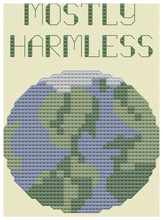 Hitchhiker's Guide to the Galaxy Cross Stitch by pickleladyfarm on #etsy