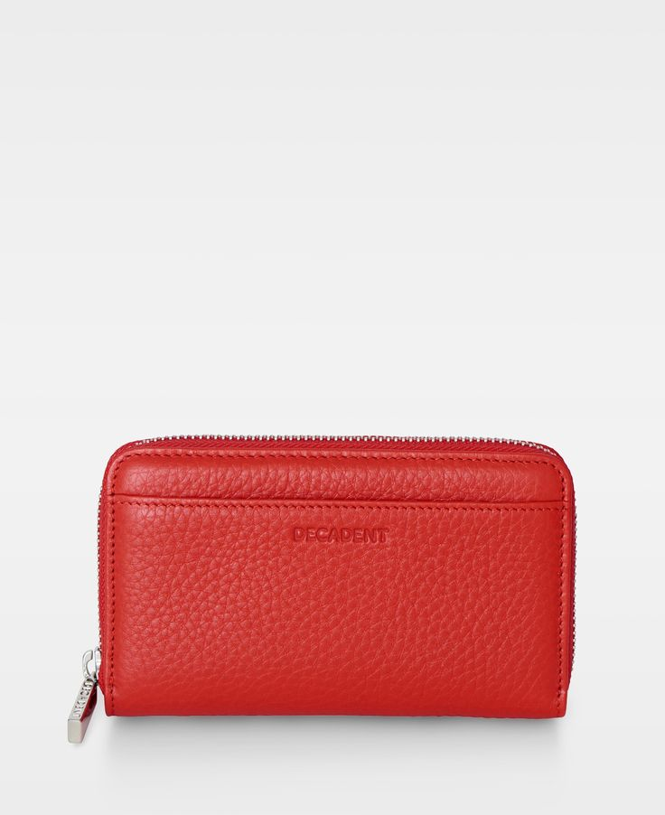 DECADENT Esther Medium zip wallet, red