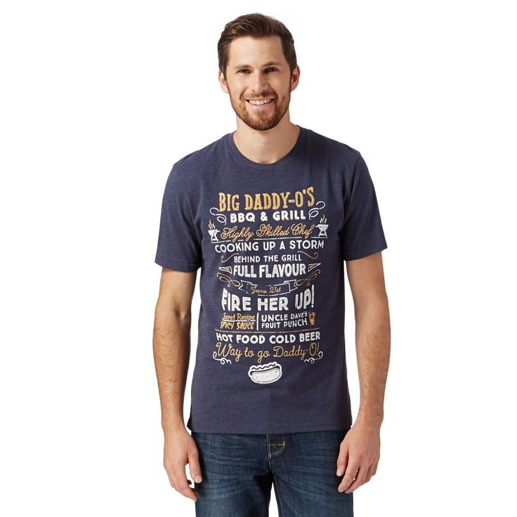 St George by Duffer Navy 'Daddy-O's BBQ' T-Shirt Large Size #Debenhams #GraphicTee