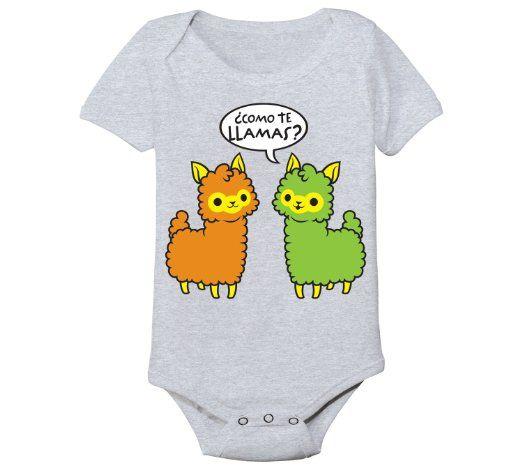 Amazon.com: Como Te Llamas Funny Spanish Mexican Baby One Piece: Clothing
