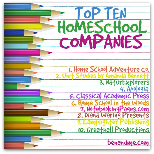 Our TOP TEN favorite Homeschool Companies this past school year.