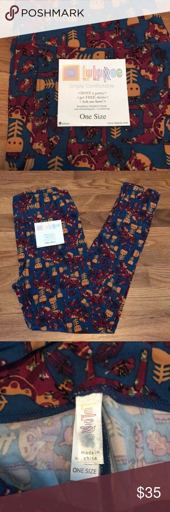 NEW Lularoe OS Legging These are NEW never worn Lularoe OS Leggings. These are adorable with arrows on them and would be great for fall! Oh so soft and comfy! LuLaRoe Pants Leggings