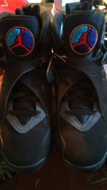 NewKicks.... Retro Jordans Aqua 8's  ✌✊