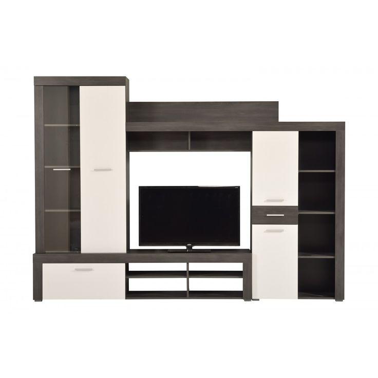 Dedeman Biblioteca Albena lemn negru + alb 3C - Dedicat planurilor tale