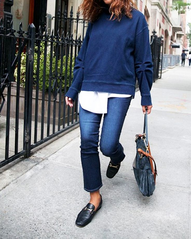 The Denim Trends New York and L.A. Girls Wear So Differently via @WhoWhatWear