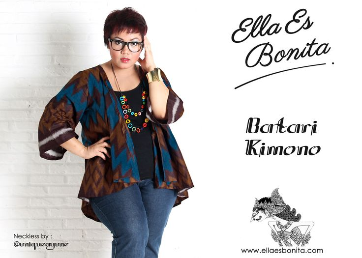 Batari Kimono - This kimono features high quality batik cotton which specially designed for sophisticated curvy women originally made by Indonesian Designer & Local Brand: Ella Es Bonita. Available at www.ellaesbonita.com