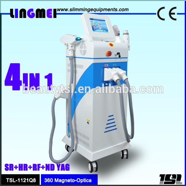 Professional ipl pulse laser hair removal epilator tattoo removal laser china laser 360 Magneto optic machine