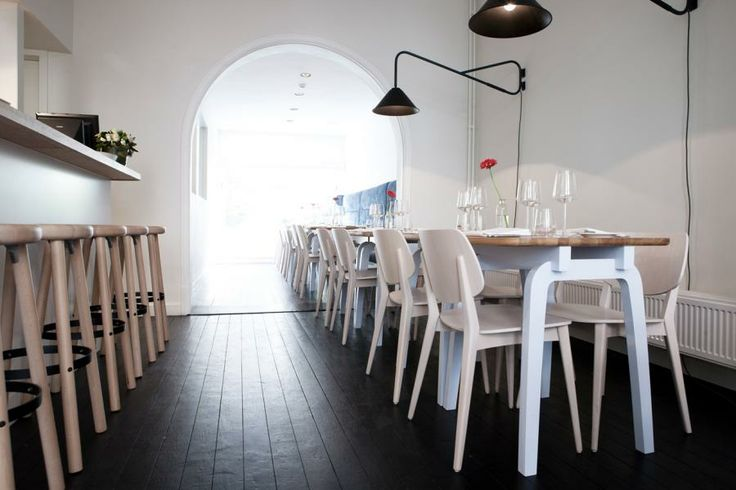 kamu  |  TOM FRENCKEN  |  These custom made tables for this Antwerp restaurant later became part of the standard LEGS collection. The LEGS tables and cabinet fit perfectly in this old building and make it a modern and timeless interior. www.kamu-resto.be