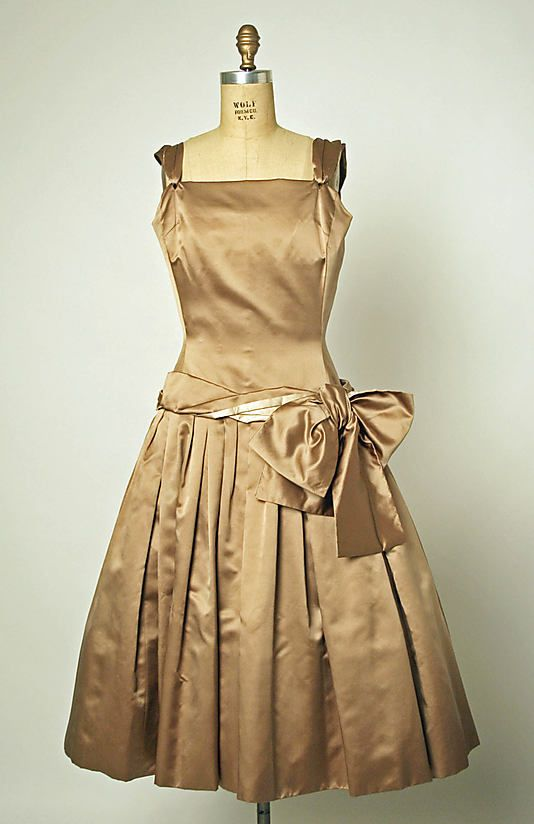 """""""Priscilla""""  House of Dior  (French, founded 1947)  Designer: Christian Dior (French, Granville 1905–1957 Montecatini) Date: fall/winter 1954–55"""