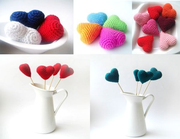 Have a look at these lovely little crocheted heart softies!  They are available through Etsy from Sabahnur