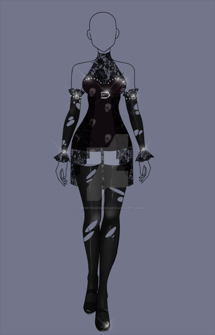 (closed) RE-Auction Adopt - Goth Outfit 2 by CherrysDesigns on DeviantArt | oc | Pinterest ...
