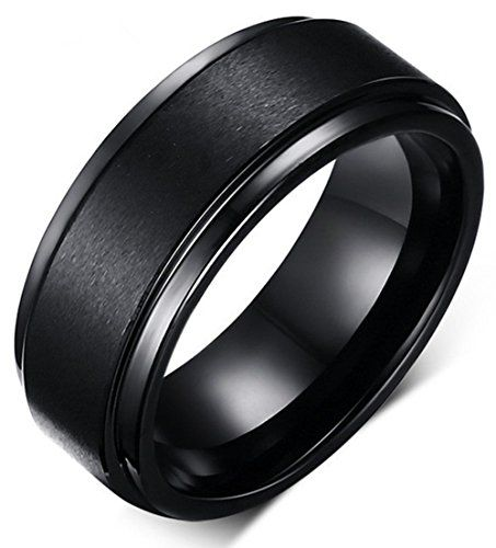 Christmas Sale! King Will 8mm Black High Polish Tungsten Men's Wedding Ring Comfort Fit Matte Finish Engagement Band - http://www.jewelryfashionlife.com/christmas-sale-king-will-8mm-black-high-polish-tungsten-mens-wedding-ring-comfort-fit-matte-finish-engagement-band/