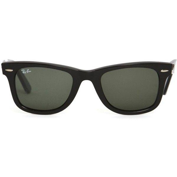 Ray-Ban Wayfarer Sunglasses ($185) found on Polyvore