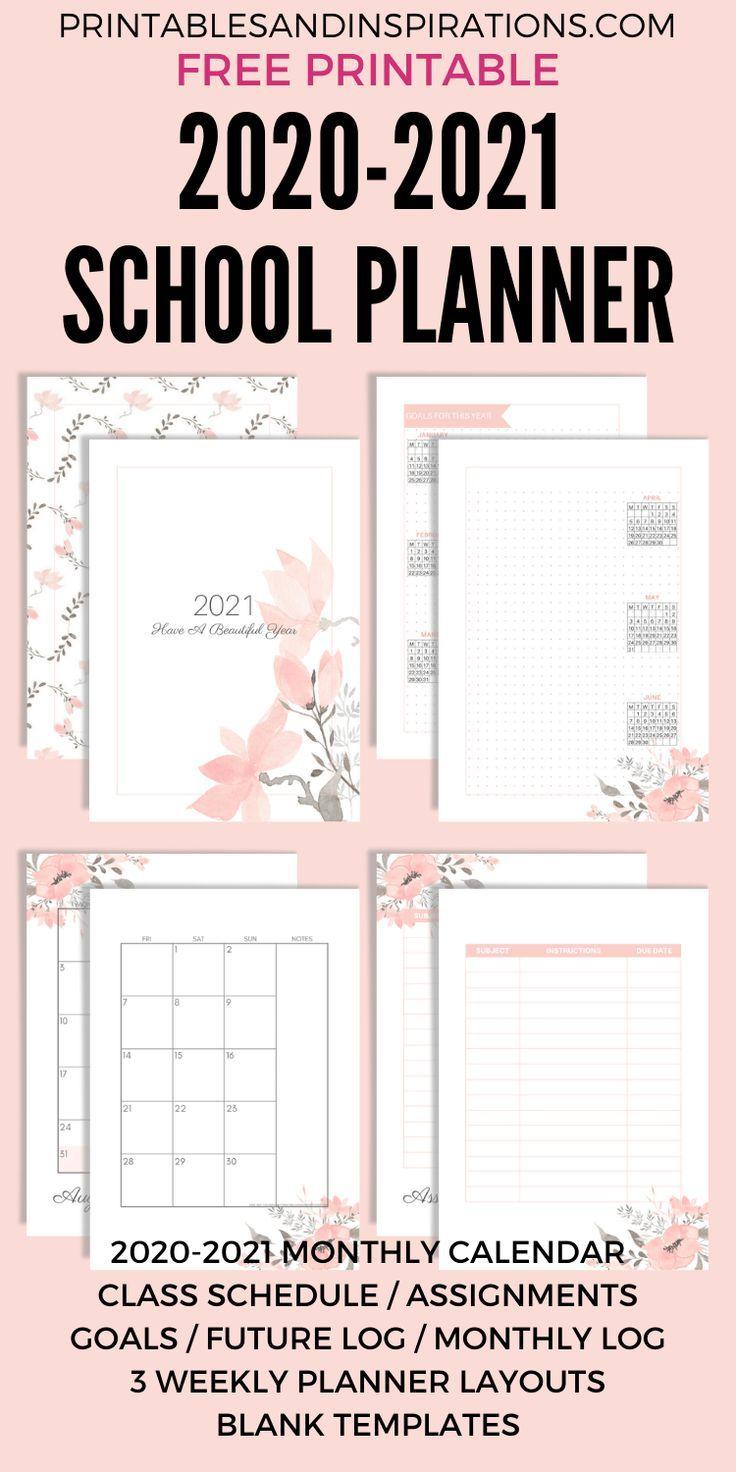 Free Printable 2020   2021 School Planner (Updated!)   Printables