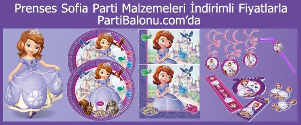 Sofia Parti Malzemeleri  İlk piyasaya çıkış tarihi 2011 olan ve Disney'in yeni karakteri olan Prenses Sofia'ya tüm kız çocukları bayılıyor. 2 - 7 yaş arasındaki çocuklara hitap eden Prenses Sofia'nın ilk sinema filmi 2013 yılında çekildi. Eğer sizinde çocuğunuz Prenses Sofia'yı seviyor ise ona doğum gününde sürpriz yaparak Prenses Sofia Doğum Günü Konseptli bir doğum günü partisi düzenleyebilirsiniz.