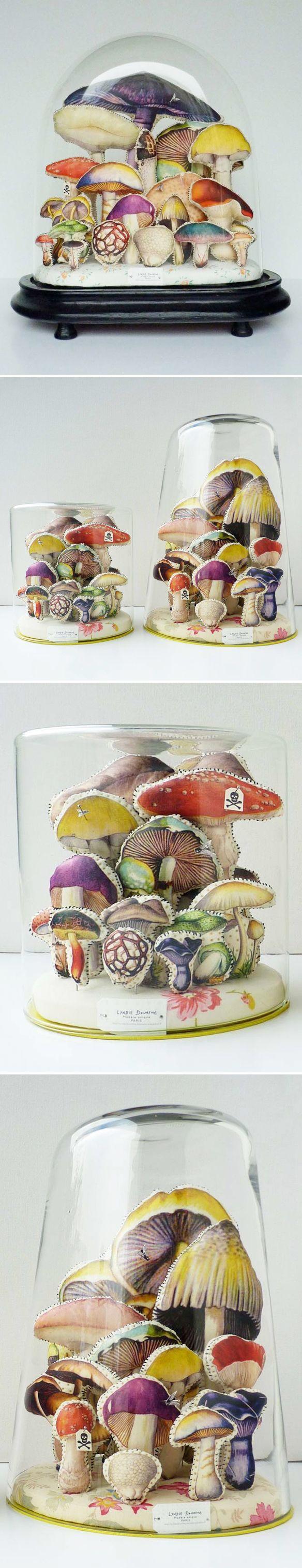 lyndie dourthe - textile mushroom terrariums <3