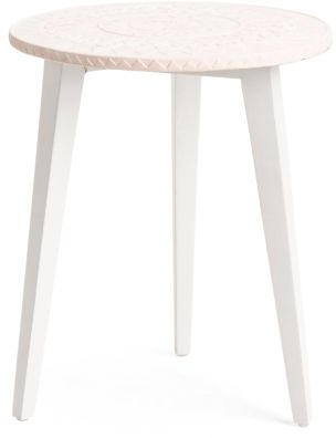 Girls Beach Bedroom -  Cement Stamp Side Table (affiliate link)