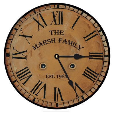 """Darby Home Co Customizable Traditional Clock Size: 18"""""""