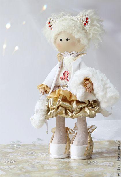 Коллекционные куклы ручной работы. Заказать Кукла текстильная. Знаки зодиака. Лев. Лео. Елена (warianta) территория кукол. Ярмарка Мастеров.