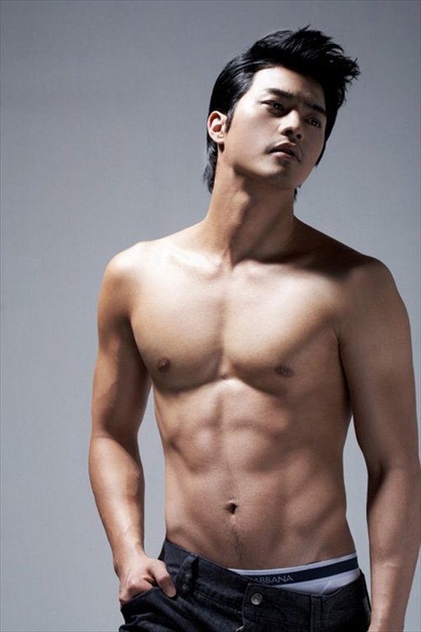 Korean male topless