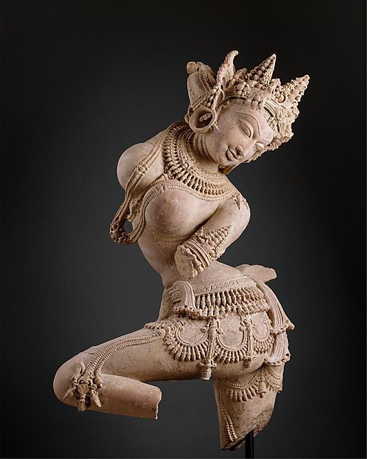 Dancing Celestial Deity (Devata). Date: early 12th century. Culture: India (Uttar Pradesh). Medium: Sandstone.